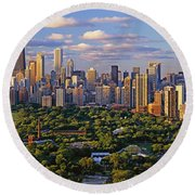This Is Lincoln Park With Diversey Round Beach Towel