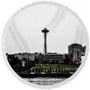 This Is Seattle  Round Beach Towel