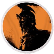 This Is Sparta Round Beach Towel