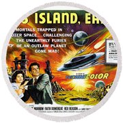 This Island Earth Science Fiction Classic Movie Round Beach Towel