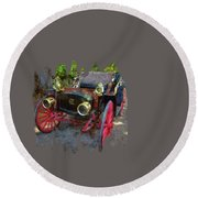 This Old Car Round Beach Towel by Thom Zehrfeld