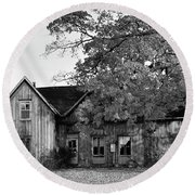 This Old House 2 Round Beach Towel by Gary Hall