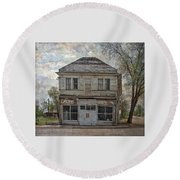 Round Beach Towel featuring the photograph This Old Store by Thom Zehrfeld