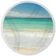 This Paradise Life Round Beach Towel by Sharon Mau