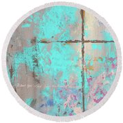 This Side Of The Cross Round Beach Towel by Karen Kennedy Chatham
