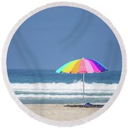 This, This Is Summer Round Beach Towel by Peter Tellone