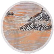 This Way Son Round Beach Towel