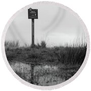 Round Beach Towel featuring the photograph This Way To Darwen by RKAB Works