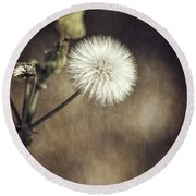 Round Beach Towel featuring the photograph Thistle by Carolyn Marshall