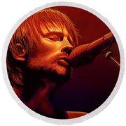 Thom Yorke Of Radiohead Round Beach Towel