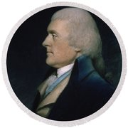 Thomas Jefferson Round Beach Towel by James Sharples