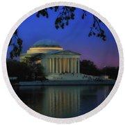 Thomas Jefferson Memorial Sunset Round Beach Towel