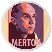 Thomas Merton - Jltme Round Beach Towel