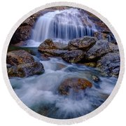 Thompson Falls, Pinkham Notch, Nh Round Beach Towel