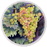 Thompson Grapes Round Beach Towel