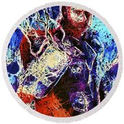 Thor Charged Up Round Beach Towel