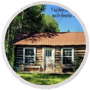 Thoreau--three Chairs Round Beach Towel