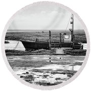 Thornham Harbour, North Norfolk Round Beach Towel