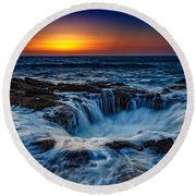 Thor's Well Round Beach Towel
