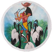 Thoth - What's With The Sombrero Round Beach Towel