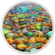 Thou Shalt Not Eat Stones Round Beach Towel