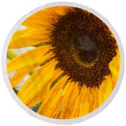 Thoughts Of Autumn Round Beach Towel by Arlene Carmel