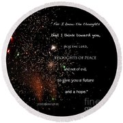 Round Beach Towel featuring the photograph Thoughts Of Peace by Debby Pueschel