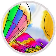 Three Balloons Round Beach Towel