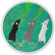 Three Blind Mice Round Beach Towel