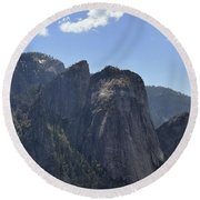 Three Brothers From Four Mile Trail Round Beach Towel