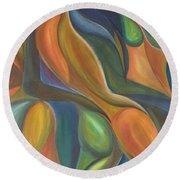 Three Dancers Smooth Round Beach Towel