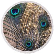 Three Feathers Round Beach Towel