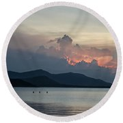 Three Fishermen Round Beach Towel