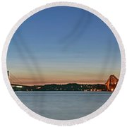 Three Forths At Dusk Round Beach Towel