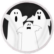 Three Ghosts Round Beach Towel