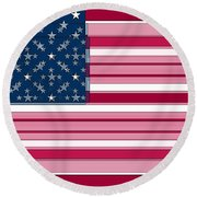 Three Layered Flag Round Beach Towel by David Bridburg