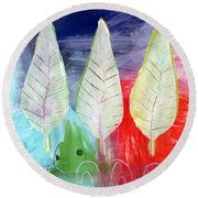 Three Leaves Of Good Round Beach Towel