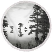 Three Little Brothers Round Beach Towel