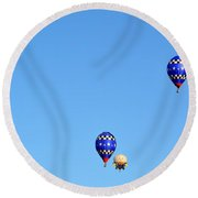 Round Beach Towel featuring the photograph Three Of A Kind And Humpty Too by AJ Schibig