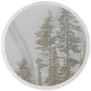 Three Pines Round Beach Towel