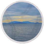 Three Realms/dusk Round Beach Towel