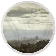 Three Shrouded In Mist Round Beach Towel
