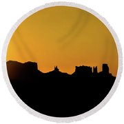 Three Sisters Backlight Round Beach Towel