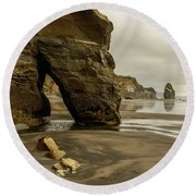 Three Sisters Round Beach Towel by Werner Padarin