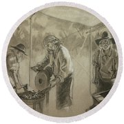 Three Smiths Round Beach Towel