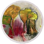 Three Trees Round Beach Towel