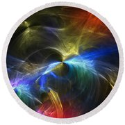 Round Beach Towel featuring the photograph Threshold by Mark Blauhoefer