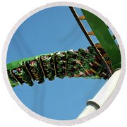 Thrill Ride Round Beach Towel