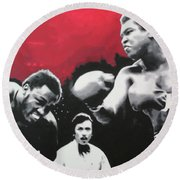 Thrilla In Manila Round Beach Towel