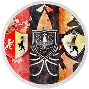 Thrones Round Beach Towel